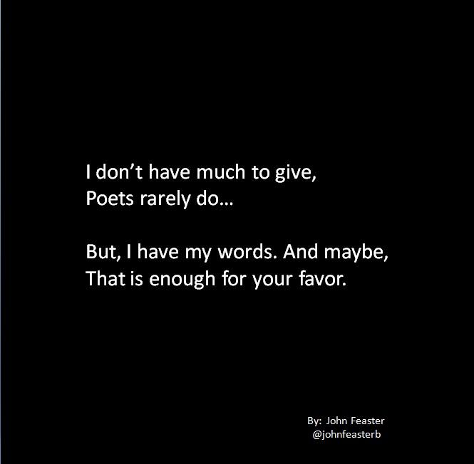 Your Favor Poem Piece